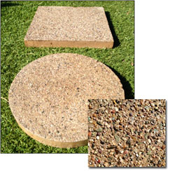 Exposed Aggregate Stepping Stones
