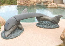 Dolphin Landscape Bench
