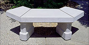Keystone Curved Concrete Landscape Benches