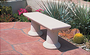 Classic Outdoor Concrete Benches