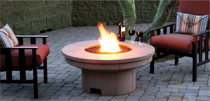 Outdoor Concrete Fire Table