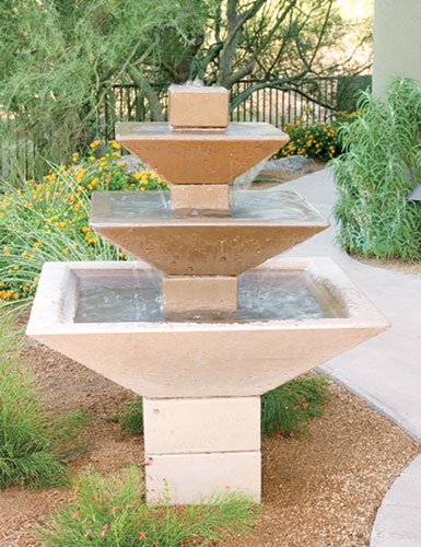 Concrete Landscape Water Fountains Residential