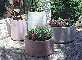 Mesa Outdoor Concrete Planters