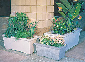 Classic Rectangular Outdoor Concrete Planters