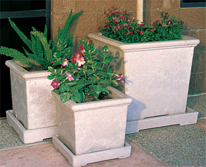 Classic Square Outdoor Concrete Planters