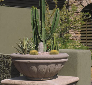 Tuscany Bowl Outdoor Concrete Planters