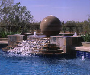 Concrete Fountain Sphere