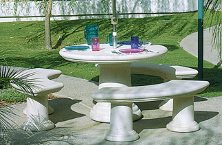 Classic Round Outdoor Concrete Tables