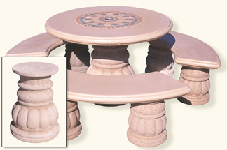 Rosonne Round Outdoor Concrete Tables