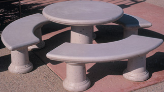 Classic Child's Outdoor Concrete Tables