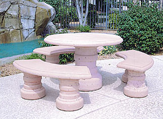 Tucson Concrete Landscape Tables