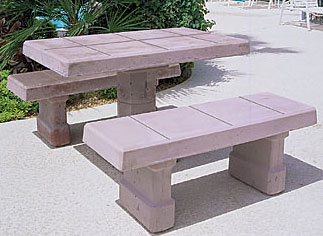 Keystone Rectangular Concrete Landscape Tables
