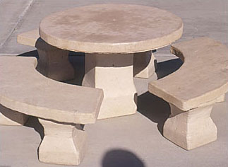 Santa Fe Child's Outdoor Concrete Tables
